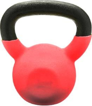 Vinyl Coated Kettlebell - 15 lbs. (Red)