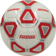 Brine Attack Soccer Ball (Red/White) - Size 5