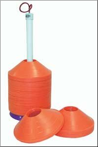 Disc/Half Cone Carrier w/ 72 Orange Cones