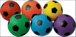 Dimple Soccer Balls - Set of 6 (Size 4)