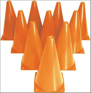 "9"" Drill Cones - Set of 10"