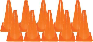 "12"" Drill Cones - Set of 10"