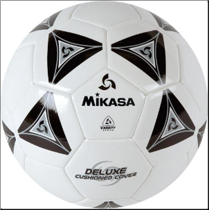 Mikasa SS50 Series Soccer Ball - Black (Size 5)
