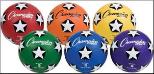 Colored Soccer Balls - Size 5 (Set of 6)