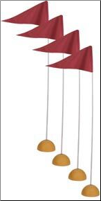 Universal Indoor/Outdoor Corner Flags