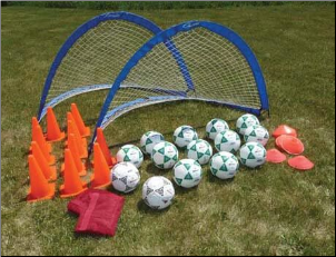 Deluxe 2 Goal Value Pack-(Size 4 Balls)