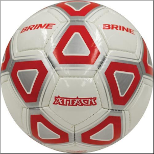 Brine Attack Soccer Ball (Red/White) - Size 4
