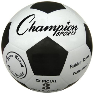 Budget Rubber Soccer Ball - Size 3